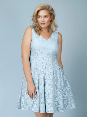 Rebel Wilson for Torrid - Woman's Plus Size Baby Blue Lace Dress
