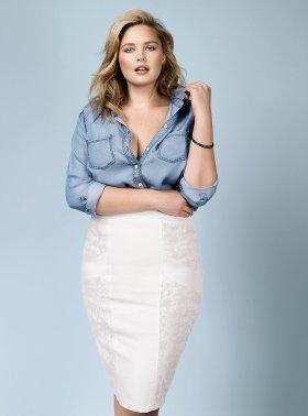 Woman's Plus Chambray Denim Shirt - Rebel Wilson for Torrid