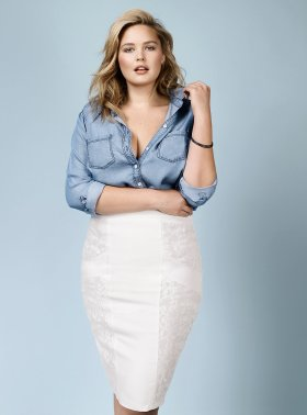 Woman's Plus Chambray Denim Shirt - Rebel Wilson for Torrid