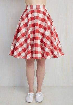 Woman's Plus Size Skirt - Retro Vintage Woman's Plus Size - Modcloth