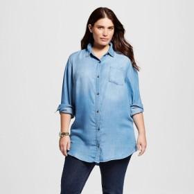 Woman's Plus Size Denim Tunic - Target