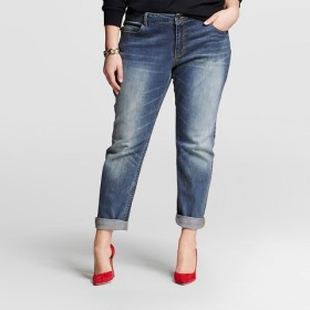 Woman's Plus Size Boyfriend Denim - Target