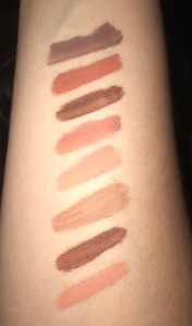 NYX Lip Lingerie Shade Swatches